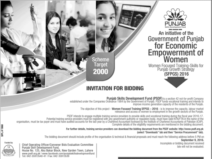 Punjab Govt Economic Empowerment Of Women Scheme 2016
