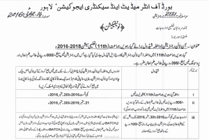 Change Inter Subject Or Group In Online Registration Return Lahore Board Method