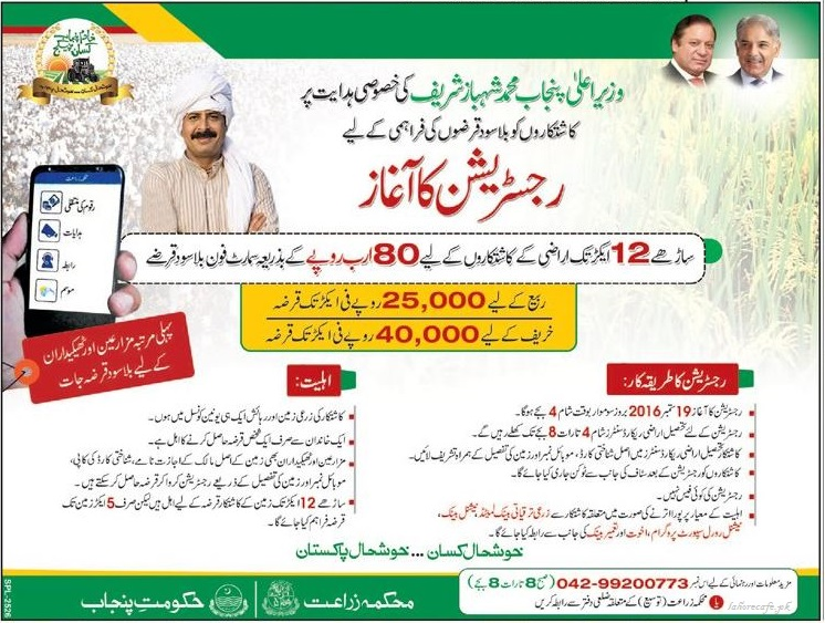 cm-shahbaz-sharif-punjab-government-loan-scheme-for-farmers-2016