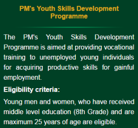 Prime Minister Youth Skills Development Programme Apply Form Download