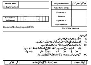 8th Class Urdu Model Paper 2017 PEC Issued Board Sample Papers
