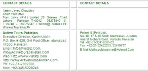 Tour Operators Travel Agents In Pakistan Registered List Inbound