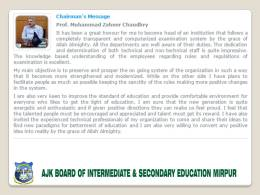 AJK BISE Mirpur Board Result 11th, 12th Class 2017 Enter Roll Number