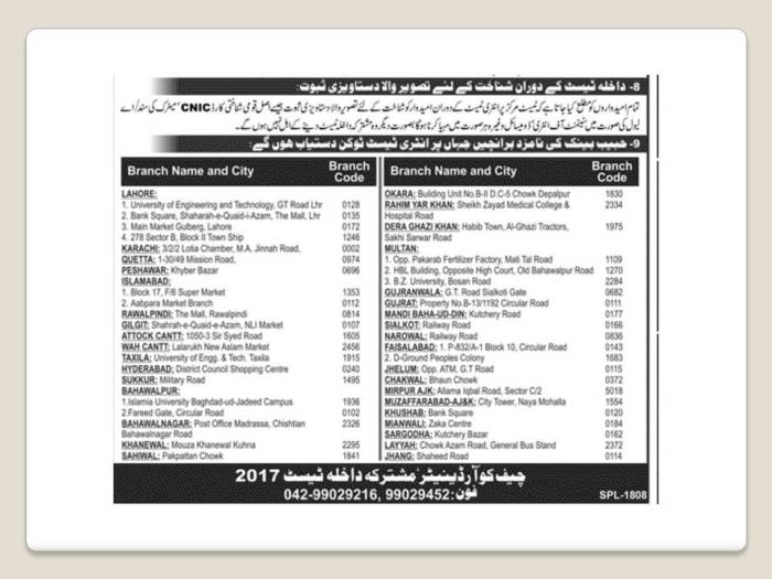 Documentation For UET Lahore Entrance Test In Punjab