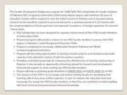 HEC Split PhD Program 2017 Higher Education Commission Pakistan