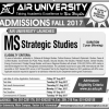 MS Strategic Studies Admission 2017 In Islamabad Air University