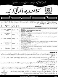 Cantonment Board Korangi Creek Jobs 2017 Application Submission Process