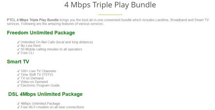 4 Mbps Triple Play Bundle
