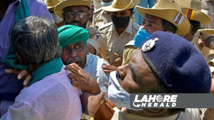 India counters farmer's protest