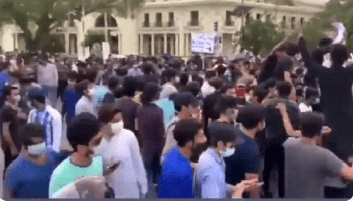 O/A Level students Protest in lahore