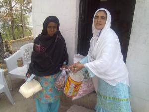 BMWT Team distributes food items to the needy widows