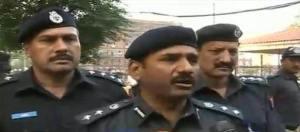 DIG Rai Tahir is talking to media