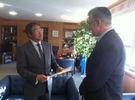 Mr. Soji Sekimizu, Secretary General of the IMO and H.E. Daniel Taub