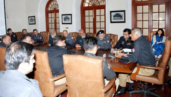 IGP Aftab Sultan is presiding over a high level meetint at CPO