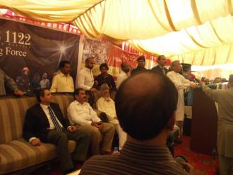 Acting Governor Punjab Rana Mohammad Iqbal addresses Phool Nagar Rescue Station inagural ceremony on 21st May