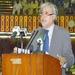Ishaq Dar presents budget 2014-15