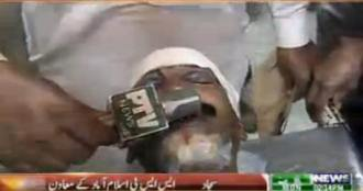 Associate of SSP Islamabad attacked by protesters