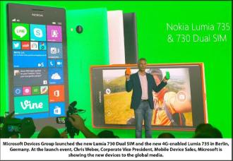 Chris Weber with Lumia 730 and 735