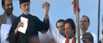Dr Qadri joins hands with Imran Khan