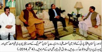 Asif ali zardari meet ch brothers