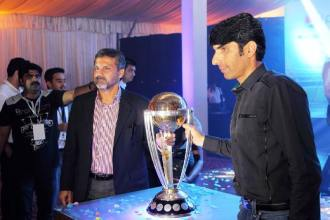 ICC Cricket World Cup 2015 trophy visits Lahore