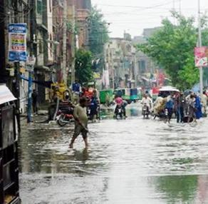 Rain water on roads