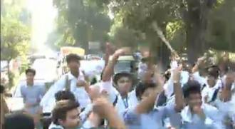 students protest against bise