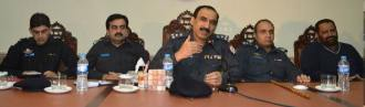 CCPO Capt Ameen Vance ,DIG Dr Haider Ashraf,Hasan Mushtaq Sukhera,SP Asad Sarfraz Khan,SP Omar Virk 28.11.14