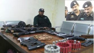 Sadr Division police captured a heavy contingent of arms during search operation