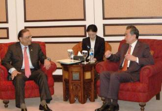 Former President Asif Ali Zardari and Chinese Foreign Minister Wang Yi have meeting in Islamabad