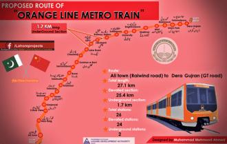 Orange Line Metro Train Route Map