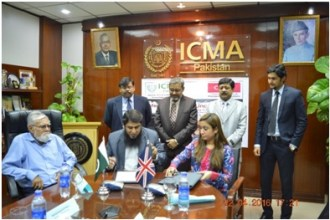 ICMA and CIMA UK signs MoA to develop Management Accountancy 1