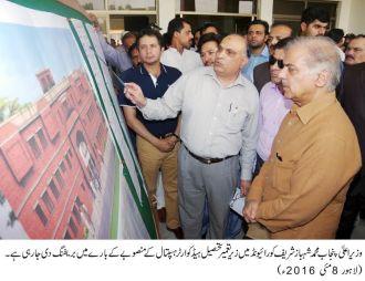 Shehbaz Sharif visit to under-construction 60-bed Tehsil Headquarters Hospital at Raiwind city