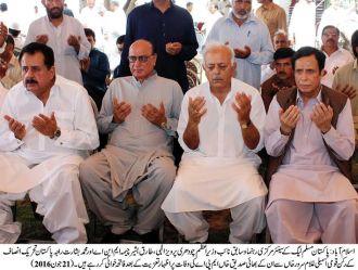 Ch Pervaiz Elahi visits hunger strike camp of MWM