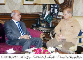 Shahbaz Sharif calls on Governor Punjab Rafique Rajwana