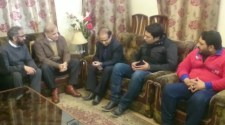 Shahbaz Sharif visit the residence of Pervaiz Bashir to offer condolence