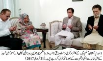 Ch Pervaiz Elahi condoles with the bereaved family of martyred DIG Capt Ahmad Mubeen