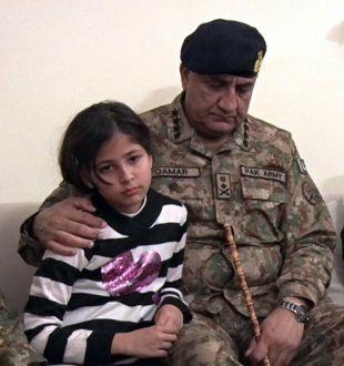 General Qamar Javed Bajwa visited bereaved family of shaheed DIG Mubeen