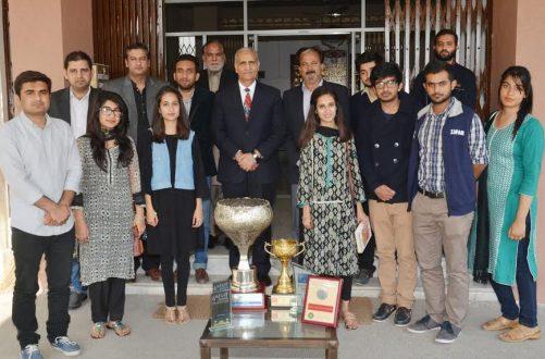 Punjab University students honored