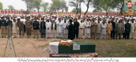 Martyred Lance Naik Fayaz Ahmed Qadri laid in his native village