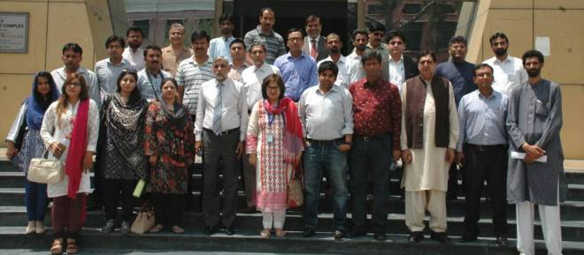 The delegation from HEC visited UET, Lahore