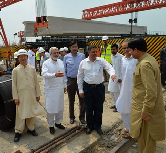 More than half of the civil work of Orange Train is completed : Kh. Ahmad Hassan