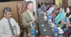 US consulate members visit Punjab University ISCS