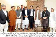 A delegation of PML-Q Jehlum calls on Ch Brothers