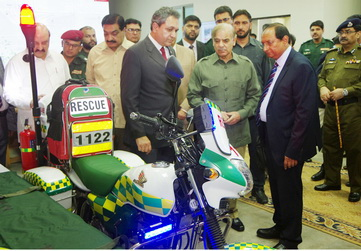Shahbaz Sharif launches motorcycle ambulance service