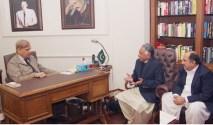 Shahbaz Sharif met the Parliamentarians
