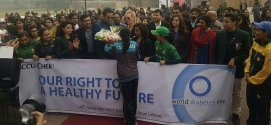 Waseem and Shaniera attend diabetes awareness walk
