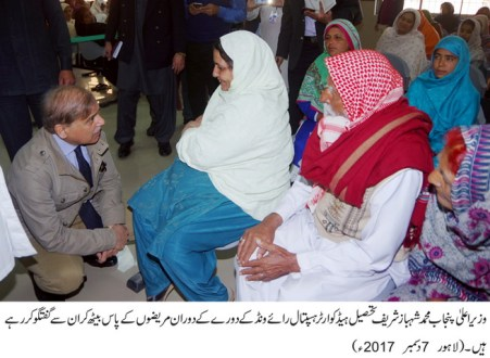 CM Punjab visit to Tehsil Headquarters Hospital Raiwind