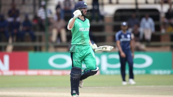 Andrew Balbirnie stroked a career-best century against Scotland