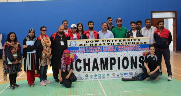 Dow University stood victorious in All Karachi Inter Professional Medical College Sports Competition
